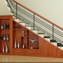 Tủ rượu gầm cầu thang 07
