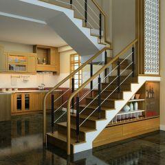Tủ rượu gầm cầu thang 01