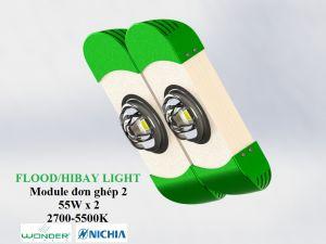 Đèn LED pha/nhà xưởng 1 chip 2 module