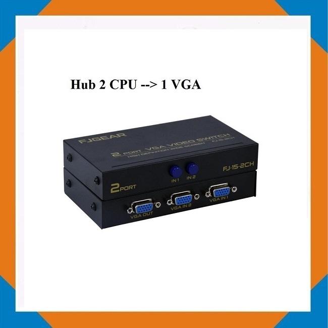 Hub 2 CPU --> 1 VGA