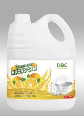 Nước rửa chén Hương Cam (3,8KG)