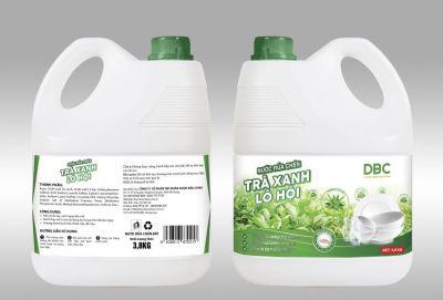 Nước rửa chén Trà Xanh Lô Hội (3,8kg)