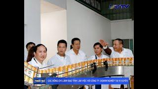Các đồng chí lãnh đạo Tỉnh Hà Giang làm việc với DN