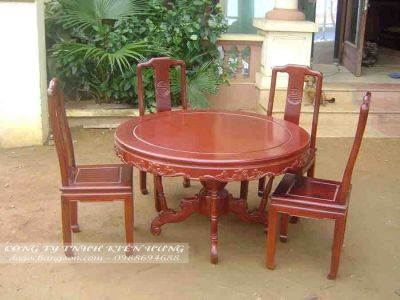 Bộ bàn ăn gỗ tự nhiên