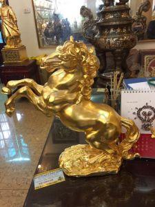 Ngựa phong thủy mạ vàng 24k