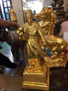 Tượng Trần Quốc Tuấn cao 60 mạ vàng 24k- hàng cao cấp