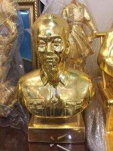 Tượng bán thân Bác Hồ mạ vàng