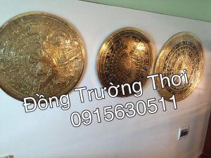 Mặt trống đồng gò tay thúc nổi,mặt trống ăn mòn. Chất liệu đồng vàng, đủ các kích thước 30,60,80,1m,1m2.