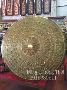 Mặt trống gò tay thúc nổi - đường kính 80cm - chât liệu đồng vàng