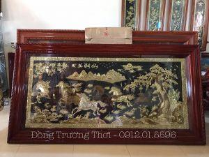 Tranh Mã Đáo Thành Công 1m2-2m3 - chất liệu đồng vàng