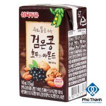Sữa óc chó hạnh nhân đậu đen Sahmyook hộp 140ml hộp