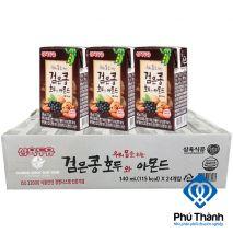 Sữa Óc Chó Hạnh Nhân Đậu Đen Sahmyook Hộp thùng  24 Hộp140ml
