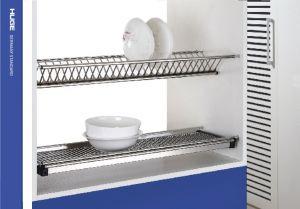 Giá bát đĩa cố định 2 tầng inox 304 H-BD1670