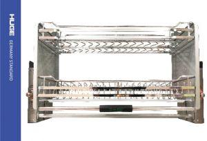Giá bát đĩa di động inox nan dẹt 304  mờ  H-BD138D