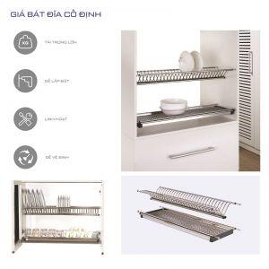 Giá bát cố định 2 tầng inox304 (H-BD1680)