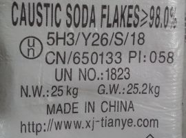Natri hiđroxit Naoh 98% Trung Quốc ( xút vảy 98% tianye- Trung Quốc )