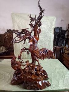 Cầu gà - gỗ hương - 130x65x40
