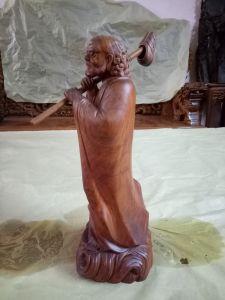 Đạt ma sư tổ - gỗ hương - 38x14x14