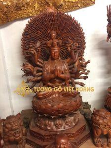Phật bà trăm mắt nghìn tay- gỗ hương-160x72x55