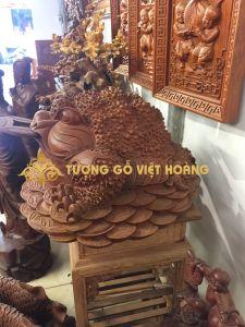 Cóc ngậm tiền- gỗ hương- 45x60x75