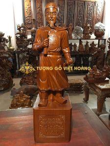 ông Trần Quốc Tuấn-gỗ hương-70x20x19