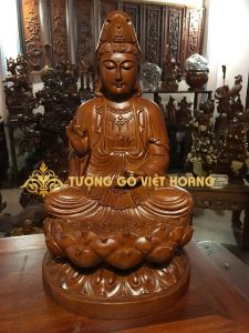 Phật bà quan âm- gỗ hương-50x29x29