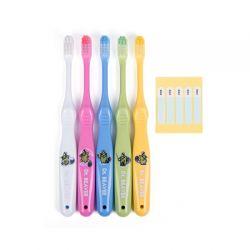 Set 5 bàn chải đánh răng cho trẻ 7-12 tuổi (kèm nắp đậy)