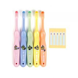 Set 5 bàn chải đánh răng cho trẻ 3-6 tuổi