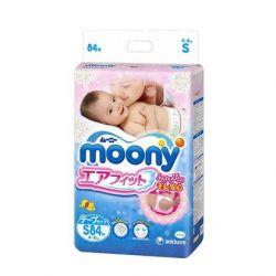 Bỉm dán Moony size S - 84 miếng (Cho bé 4 - 8kg)