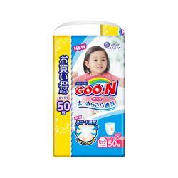 Bỉm Goon XL50 dạng quần cho bé gái
