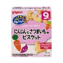 Bánh ăn dặm Pigeon vị cà rốt khoai lang 9 tháng