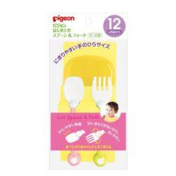 Set thìa dĩa tập ăn Pigeon dành cho bé từ 12 tháng tuổi