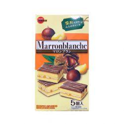 Bánh kem hạt dẻ Marronblanche phủ Chocolate (5 cái)