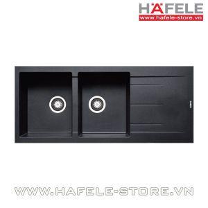 Chậu rửa bát Hafele HS-G11650 màu đen 565.83.341