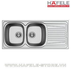 Chậu rửa bát inox Hafele - ROSE II 2B 1D 565.86.391