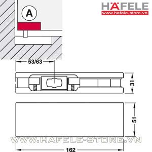 Kẹp kính cửa Hafele dưới 981.00.000
