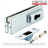 Kẹp kính cửa Hafele có lỗ lắp khóa PC 981.00.400