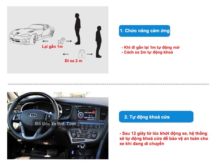 chìa khoá ô tô điều khiển từ xa