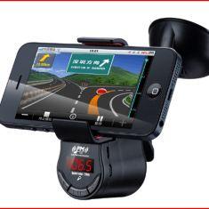 Mp3 kiêm giá đỡ điện thoại kính trước ô tô