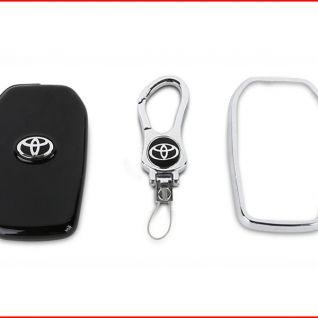 Ốp vỏ chìa khóa xe Toyota 01 (Đen)