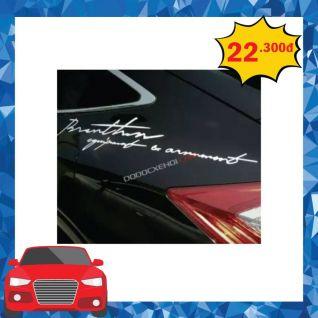 Tem dán thể thao trang trí ô tô mã 01