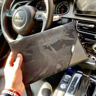 Clutch cầm tay nam Prada - hàng hiệu super fake vip like auth