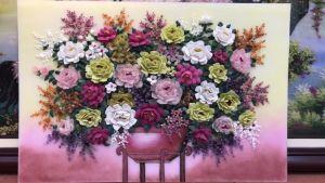 Tranh đá quý hoa xếp