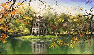Tranh đá quý phong cảnh Hồ Gươm