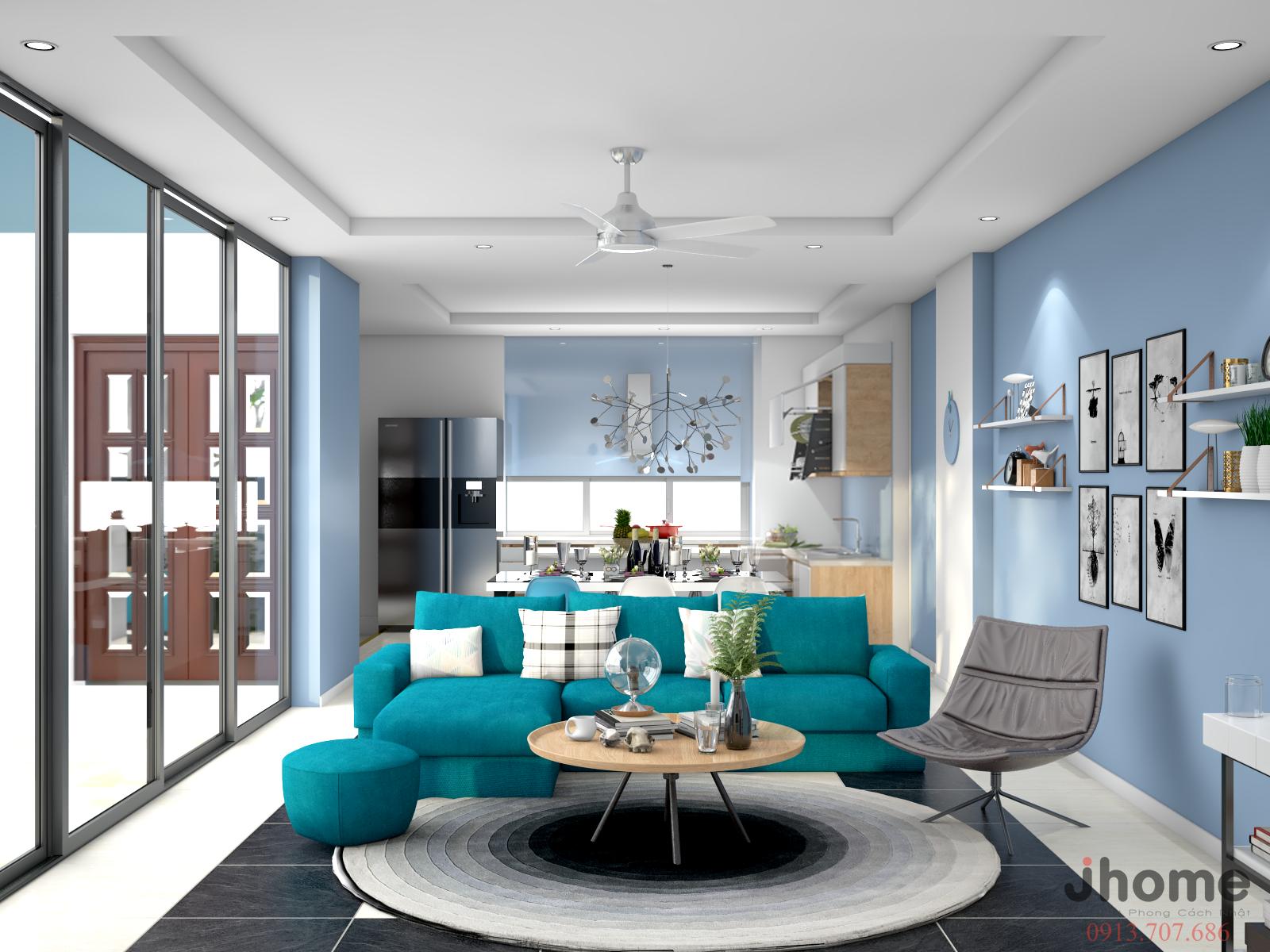 Thiết kế, thi công nội thất nhà phố Tây Hồ