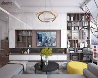 Thiết kế nội thất phòng khách chung cư Hồ Gươm Plaza - Nội thất Jhome