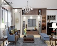 Thiết kế nội thất phòng khách chung cư Mipec Long Biên - Nội thất Jhome