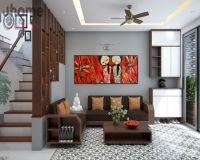 Thiết kế nội thất phòng khách nhà phố Bồ Đề - Nội thất Jhome