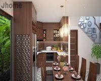 Thiết kế nội thất phòng bếp nhà phố Bồ Đề - Nội thất Jhome