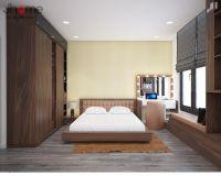Thiết kế nội thất phòng ngủ master chung cư Ecolife Capitol - Nội thất Jhome